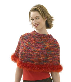 Capelet Hat Scarf and Wristlets Set Capelet Pattern Pattern (Knit)
