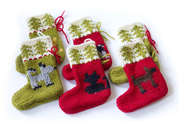 Cat and Dog Holiday Ornaments (Knit)