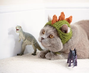 Cats In Hats - Dinosaur (Knit)