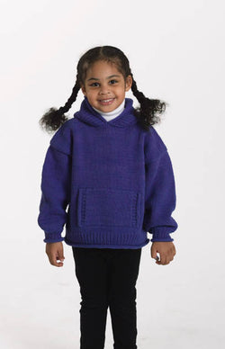 Childs Hooded Sweater Pattern (Knit)