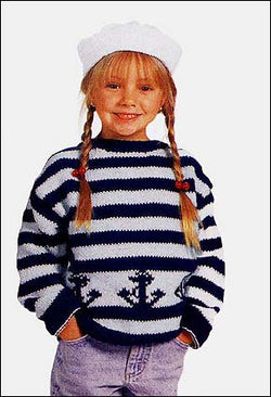 Childs Knitted Sailor Hat Pattern (Knit)