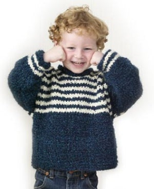 Childs Striped Yoke Pullover Pattern (Knit)