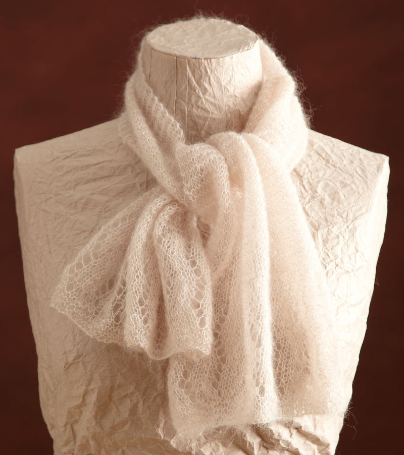 Cloud White Lace Scarf (Knit)