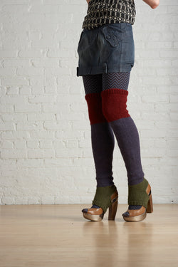 Color Block Thigh Highs Pattern (Knit)