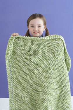 Delightful Tweed Baby Blanket Pattern (Knit)