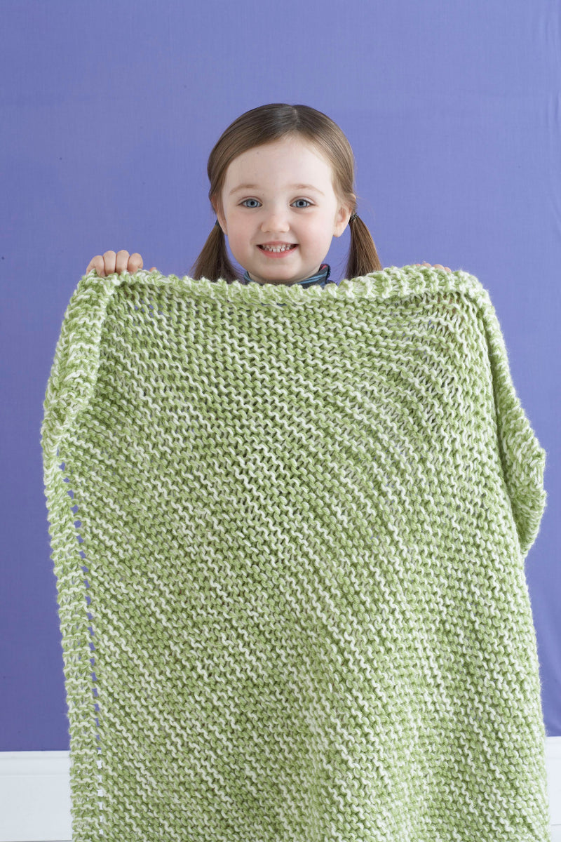 Diagonal Tweed Baby Blanket Pattern (Knit)