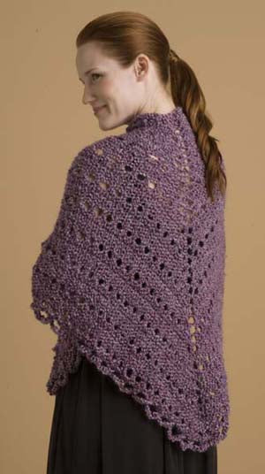 Easy Triangle Shawl Pattern (Knit)