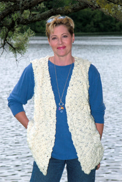 Easy to Knit Cable Vest Pattern