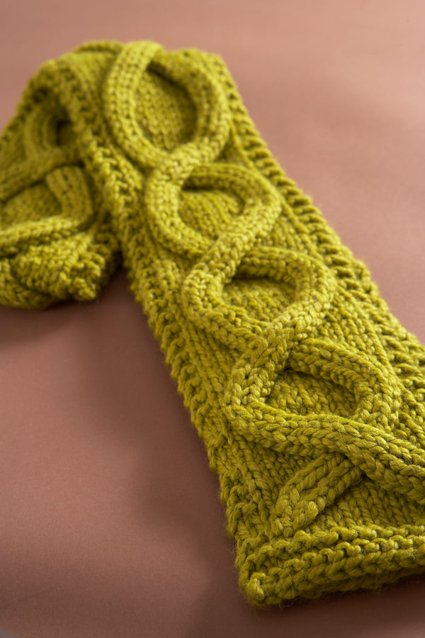 Faux Cable Scarf Pattern (Knit)