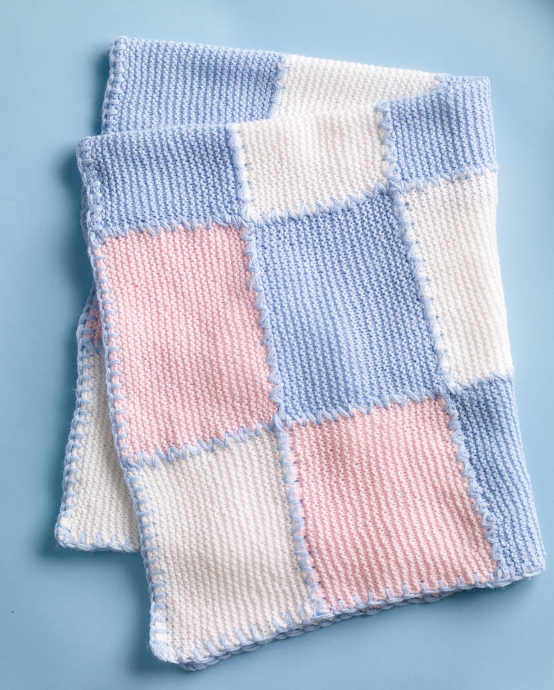 Faux Patchwork Baby Blanket Pattern (Knit)