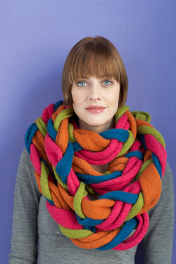 Felted Braided Colors Scarf (Knit)
