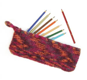 Felted Pencil Case Pattern (Knit)