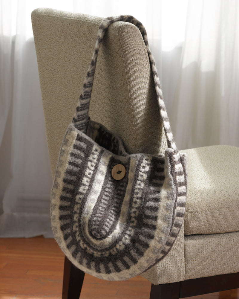 Felted Tribal Bag Pattern (Knit)