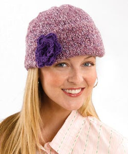 Flower Bedecked Decorated Cap Pattern (Knit)