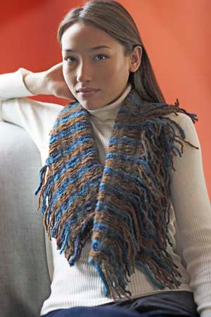 Fringed Felted Scarf Pattern (Knit)