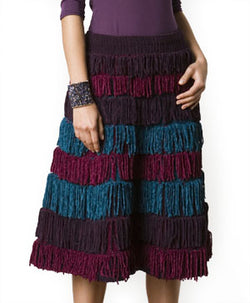 Fringed Skirt Pattern (Knit)