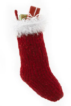 Fur cuffed Santa Stocking Pattern (Knit)