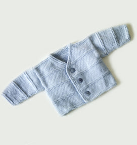 Garter Ridge Baby Cardigan Pattern (Knit)