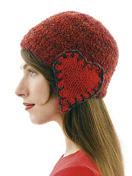 Hat with Heart Earflaps Pattern (Knit)