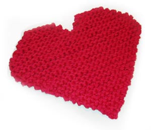 Heart Potholder (Knit)