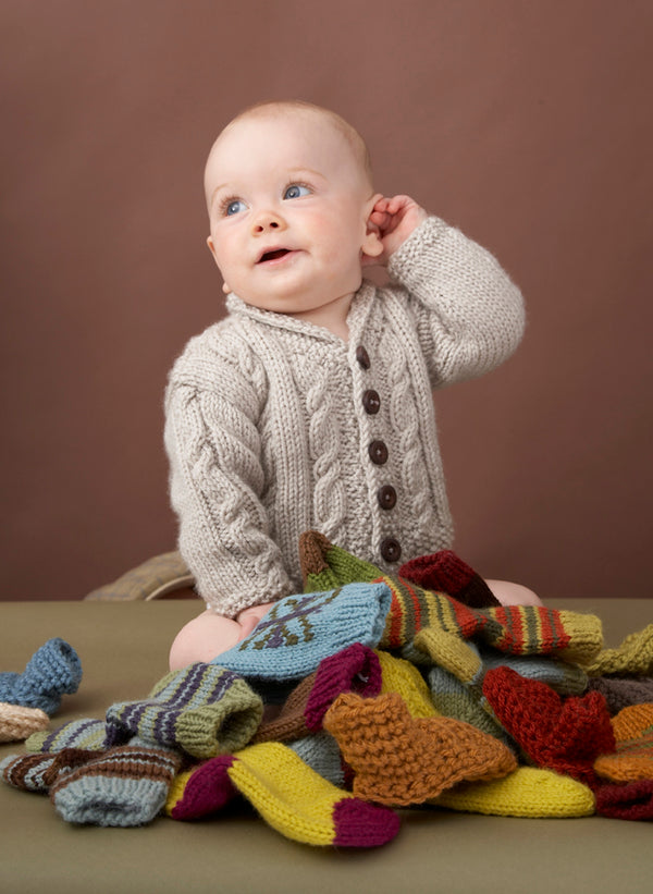 Heirloom Cables Baby Sweater Pattern (Knit)