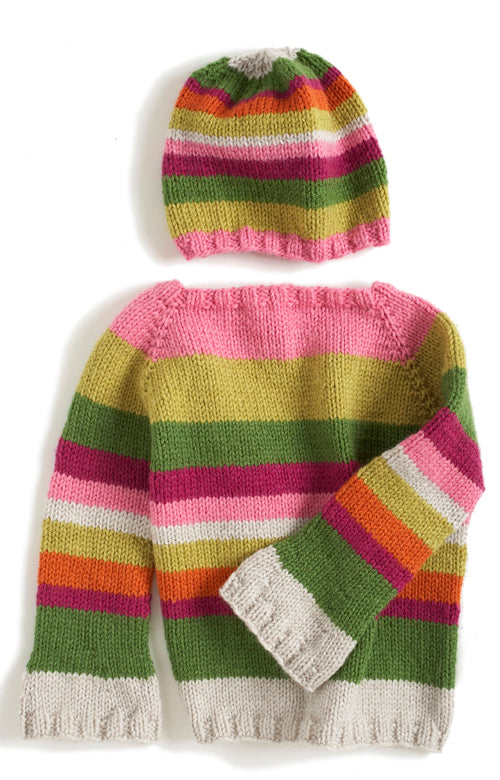 Hipster Sweater and Hat Pattern (Knit)