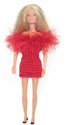Holiday Fashion Doll Dress Pattern (Knit)