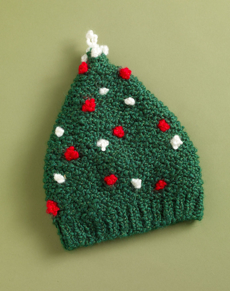 Holiday Tree Hat Pattern (Knit)