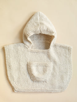 Hooded Baby Poncho Pattern (Knit)