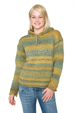 Hooded Knitted Sweater Pattern (Knit)