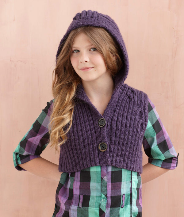 Hooded Vest Pattern (Knit)