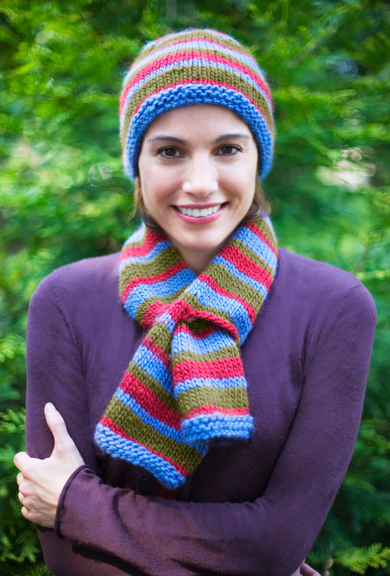Into the Woods Hat and Scarf Set Pattern (Knit)