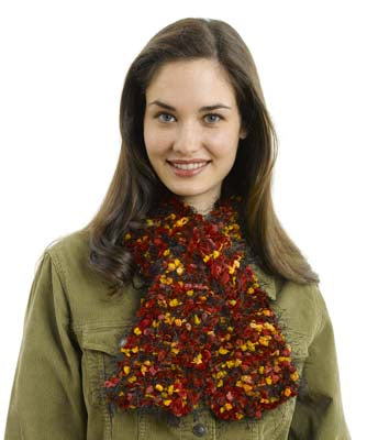 Jungle Print Keyhole Scarf Pattern (Knit)