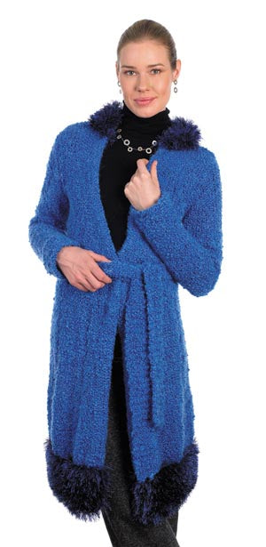 Knit Blue Note Coat Pattern (Knit)