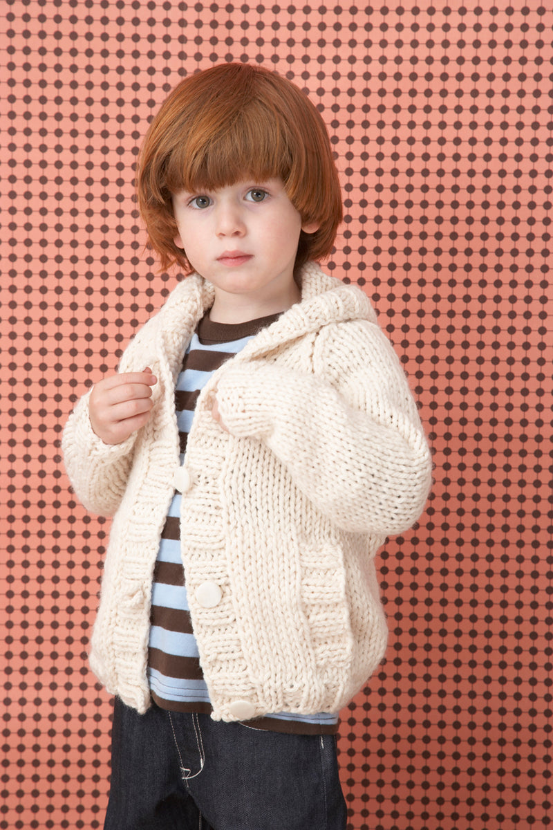 Knit Childs Raglan Cardigan Pattern (Knit)