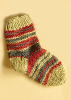 Knit Childs Striped Socks Pattern (Knit)