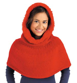 Knit Hooded Ponchette Pattern (Knit)