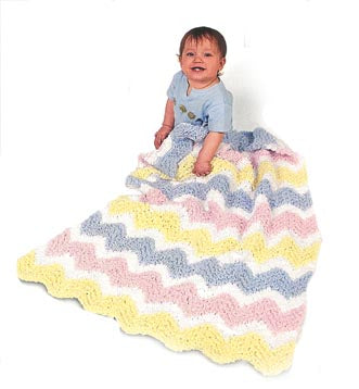 Knit Ripple Afghan Pattern