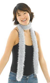 Knit Silver Tinsel Scarf Pattern (Knit)