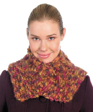 Knit V Neck Warmer Pattern (Knit)