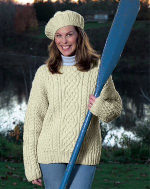 Knitted Aran Sweater Pattern (Knit)