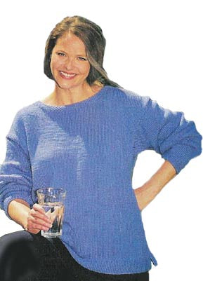Knitted Boat Neck Sweater Pattern (Knit)