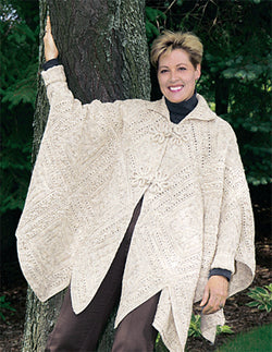 Knitted Counterpane Poncho Pattern (Knit)