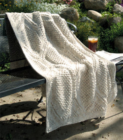 Knitted Hexagon Popcorn Afghan Pattern (Knit)