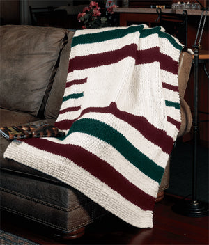 Knitted Hudson Bay Blanket Pattern (Knit)