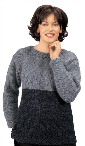Knitted Two Tone Tunic Pattern (Knit)