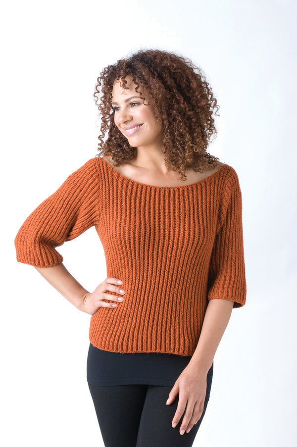 Knitting Encyclopedia Ribbed Sweater