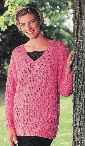Leaf Pattern Tunic Pattern (Knit)