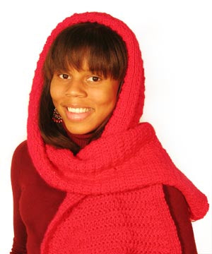 Little Red Riding Hood's Hooded Scarf (Knit)