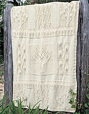 Nature in Natural Afghan (Knit)